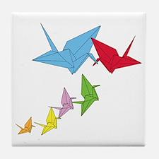 Origami Family Tile Coaster