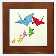 Origami Family Framed Tile