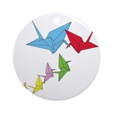 Origami Family Round Ornament