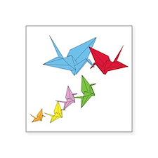 """Origami Family Square Sticker 3"""" x 3"""""""