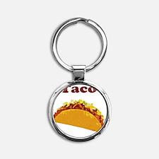 taco Round Keychain