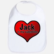 Jack is my Valentine Bib