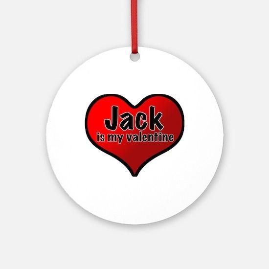 Jack is my Valentine Ornament (Round)
