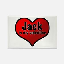 Jack is my Valentine Rectangle Magnet
