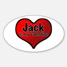 Jack is my Valentine Oval Decal