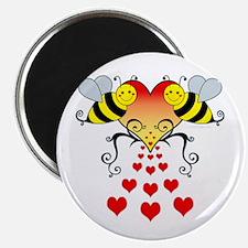 BeesHeartsDARK Magnet