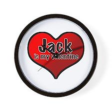 Jack is my Valentine Wall Clock
