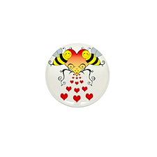BeesHeartsDARK Mini Button