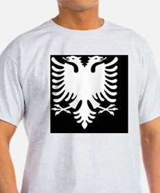 Albanian Eagle Black and White Mouse T-Shirt