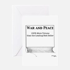 War and Peace, 150% More Volume Greeting Card