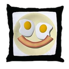 bacon face2 Throw Pillow