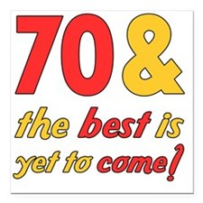 "best70 Square Car Magnet 3"" x 3"""