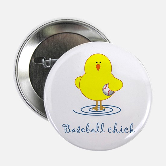 Baseball Chicks Button