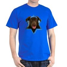 Hanukkah Star of David - Choc Lab T-Shirt