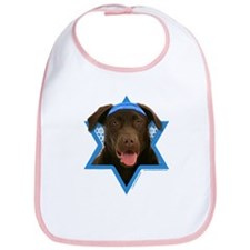 Hanukkah Star of David - Choc Lab Bib