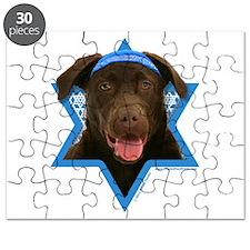 Hanukkah Star of David - Choc Lab Puzzle