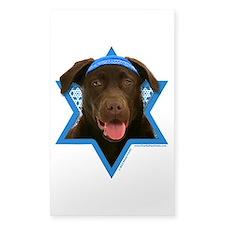Hanukkah Star of David - Choc Lab Decal