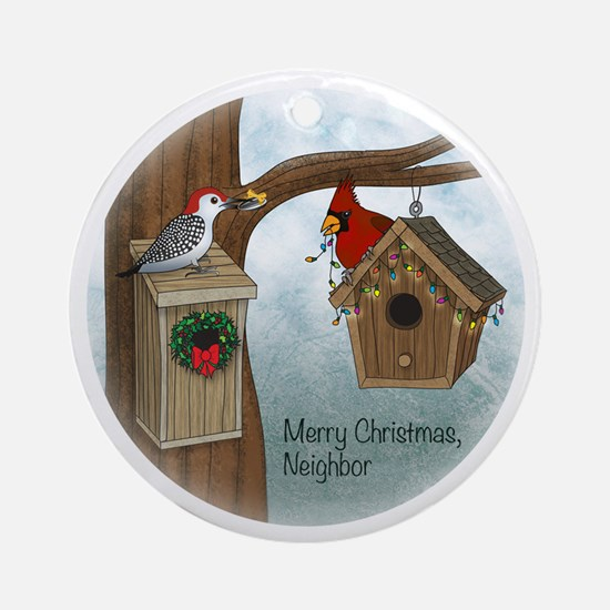 Merry Xmas Neighbor (round) Round Ornament