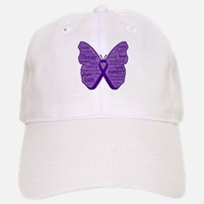 Butterfly Pancreatic Cancer Baseball Baseball Cap