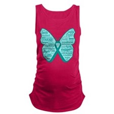 Butterfly Ovarian Cancer Ribbon Maternity Tank Top