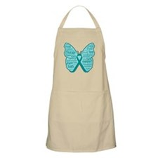 Butterfly Ovarian Cancer Ribbon Apron