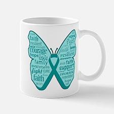 Butterfly Ovarian Cancer Ribbon Mug