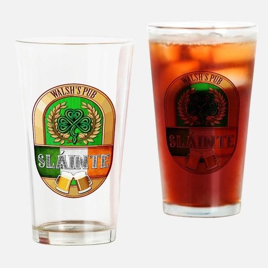 Walsh's Irish Pub Drinking Glass