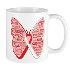 Butterfly Oral Cancer Ribbon Mug