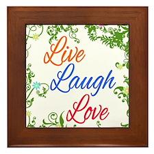 Live Laugh Love 2 Framed Tile