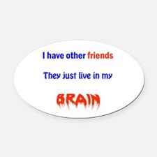 DID Family Oval Car Magnet