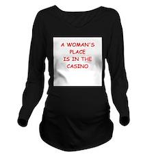 casino Long Sleeve Maternity T-Shirt
