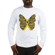 Butterfly Neuroblastoma Long Sleeve T-Shirt