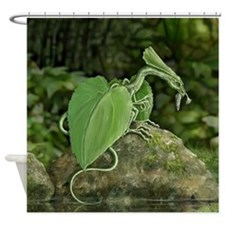 Leaf Dragon Eating A Minnow Shower Curtain