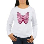 Butterfly Multiple Myeloma Women's Long Sleeve T-S