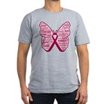 Butterfly Multiple Myeloma Men's Fitted T-Shirt (d