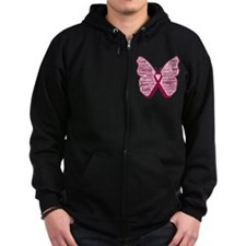 Butterfly Multiple Myeloma Zip Hoodie