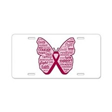 Butterfly Multiple Myeloma Aluminum License Plate