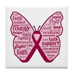 Butterfly Multiple Myeloma Tile Coaster