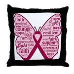 Butterfly Multiple Myeloma Throw Pillow