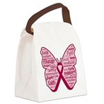 Butterfly Multiple Myeloma Canvas Lunch Bag