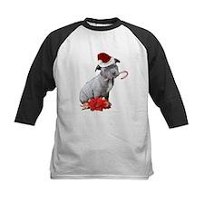 Christmas Pitbull puppy Baseball Jersey