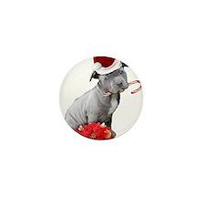 Christmas Pitbull puppy Mini Button (10 pack)