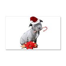Christmas Pitbull puppy Car Magnet 20 x 12