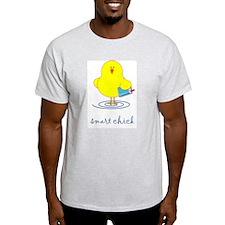 Smart Chick Ash Grey T-Shirt