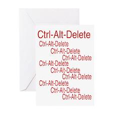 ctrl alt deleter ed Greeting Card