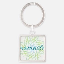namaste_cool_trnspt_logo Square Keychain