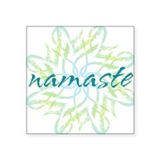 "namaste_cool_trnspt_logo Square Sticker 3"" x 3"""