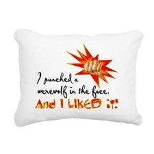 punched Rectangular Canvas Pillow