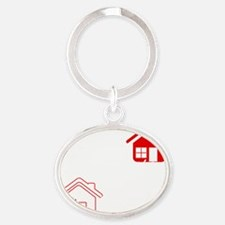 My house is your house on black Oval Keychain