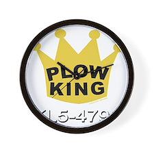 PLOW KING DARK Wall Clock